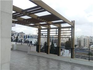 Semi furnished duplex roof top 4 BR